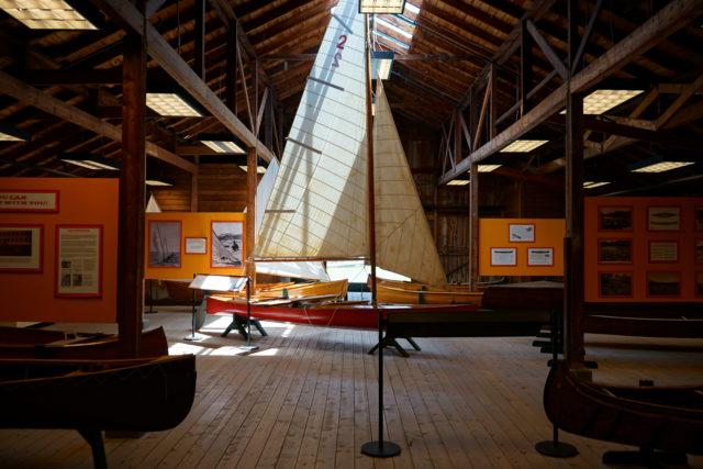 sailboat in boat museum
