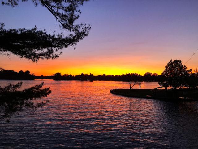 Sunset in Alexandria Bay